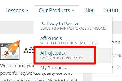 Affilojetpack Button